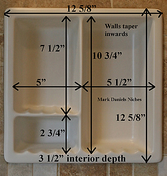 bath recess measurements