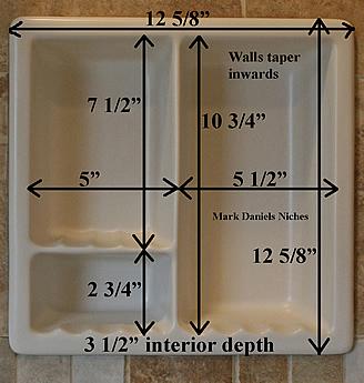Bath Recess Measurements