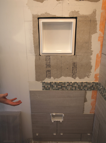 ceramic tile recessed niche