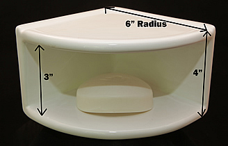 Beautiful Double Corner Caddy Measure With Ceramic Soap Dish Shower