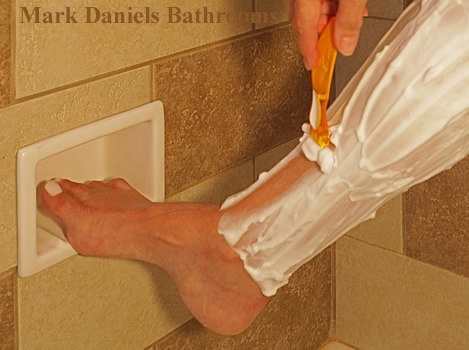 Recessed Soap Dish Or Shower Foot Rest
