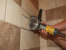 retrofit niche or shower shelf in existing tiled walls