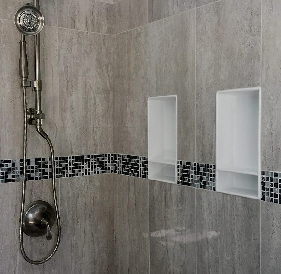 Two Cleanline CLL2 Niches / Shower Shelves