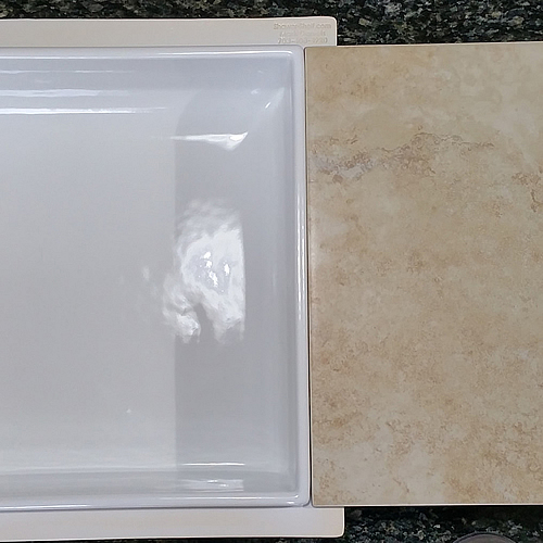 Tile Ready Niche Wall : Shower shelf shampoo niche recessed showering shelves niches
